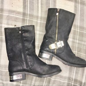 Vince Camuto women's wex gold tone Moto boots